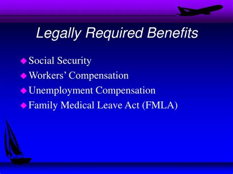 legally blind benefits ppt legally required benefits powerpoint presentation