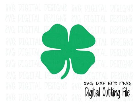 Four Leaf Clover Svg St Patricks Day Shamrock Svg