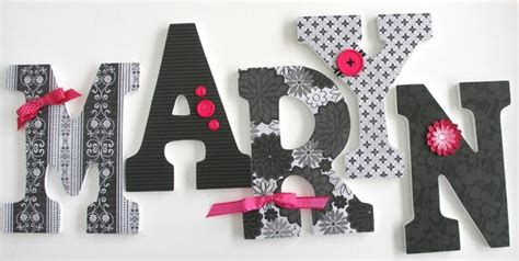set   decorated  wooden letters nursery  decor