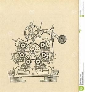 Old Apparatus Diagram Stock Illustration  Illustration Of