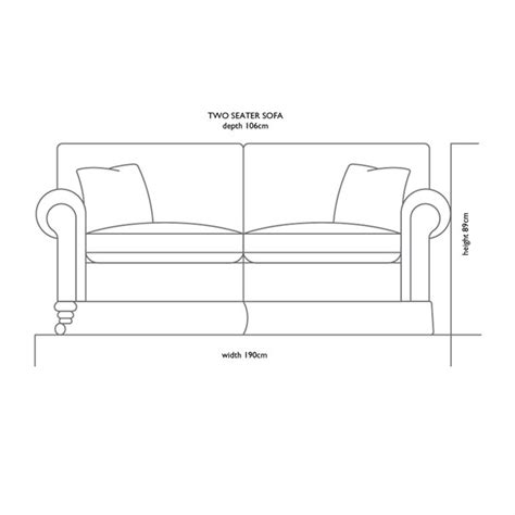 Two Seater Dimensions by 2 Seater Sofa Dimensions Cloud 2 Seater Sofa Collection By