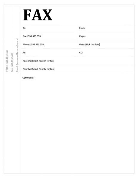 fax cover sheet academic design template for word 2007