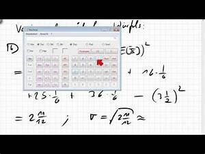 Standardabweichung Online Berechnen : varianz standardabweichung berechnen youtube ~ Themetempest.com Abrechnung