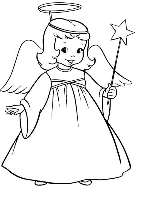 collection  printable coloring pages  angels