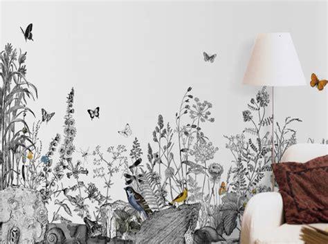 papier peint et blanc un papier peint noir et blanc pour un mur 233 l 233 gant d 233 coration