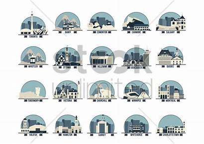 Landmarks Canada Vector Province Stockunlimited Graphic