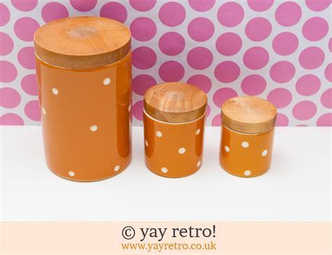 orange kitchen storage jars vintage polka dot storage jars orange vintage shop 3764