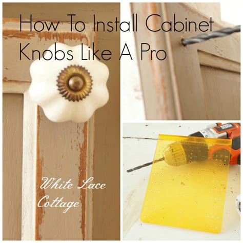 how to install knobs on kitchen cabinets installing cabinet door hardware white lace cottage 9445