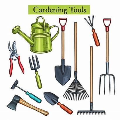 Tools Gardening Vector Equipment Garden Farm Clip