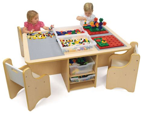 activity table with storage contemporary
