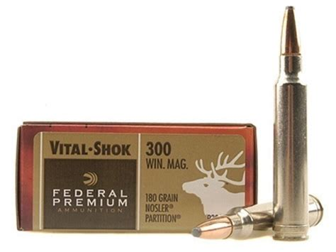 Federal Premium Vital-shok Ammo 300 Winchester Mag 180