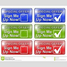 Sign Me Up Web Button W Rollover Graphic Stock Illustration  Image 50968703