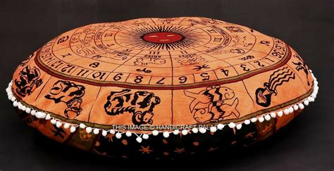 Astrology Tapestry Indian Floor Pillow Meditation Cushion