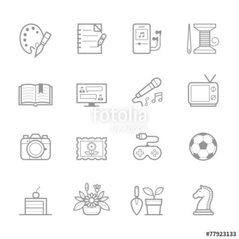 """""""hobbies Icons"""" Stock Image And Royaltyfree Vector Files"""