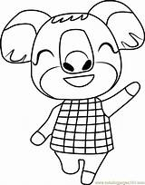Crossing Coloring Animal Yuka Pages Coloringpages101 sketch template
