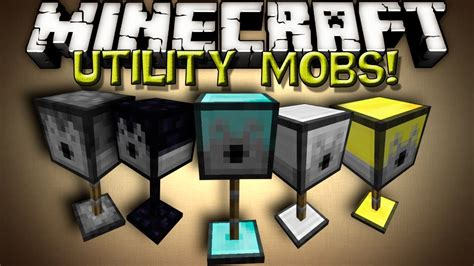 minecraft mods utility mobs turrets youtube