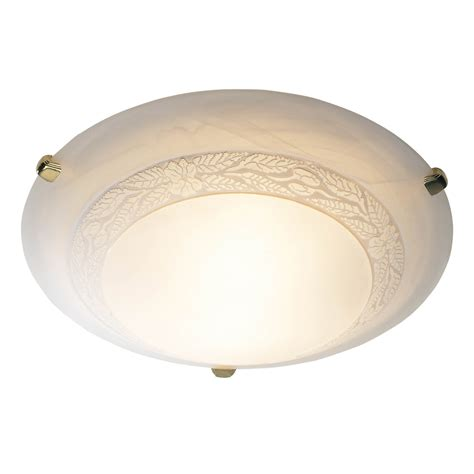 dar dam522 damask 1 light small brass flush fitting