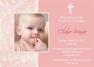 Baptism Invitations For Girl : Christening Invitation ...