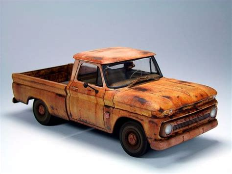 weathered 64 chevy c10 model chevy