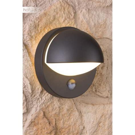 eclairage led cuisine applique murale d 39 extérieur reno avec détecteur de mouvement anthracite noir 162469316 le fr