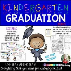 Editable Kindergarten Graduation Pack And By Mrs Leeby  Teachers Pay Teachers