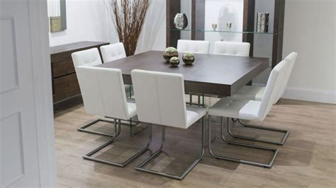 dining room sets with bench contemporary square dining room table for 8 seats with
