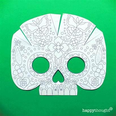 Calavera Mask Skull Printable Masks Templates Mascara