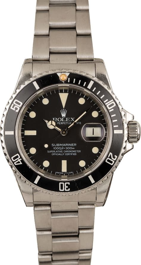 Buy Used Rolex Submariner 16800 | Bob's Watches - Sku: 126912