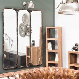3 Teiliger Spiegel : 3 teiliger metallspiegel schwarz h 159 cm titouan handsome little devils ~ Bigdaddyawards.com Haus und Dekorationen