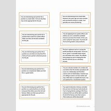 Job Interview Game (what's Wrong With Me?) Worksheet  Free Esl Printable Worksheets Made By