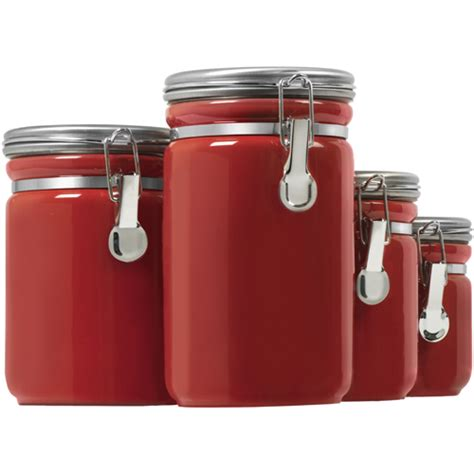 kitchen storage canister ceramic kitchen canisters set of 4 in kitchen