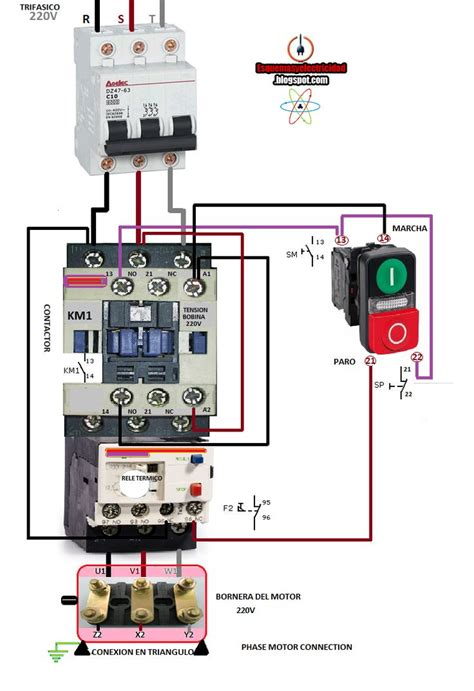 electrical diagrams phase motor connection electryc instrumen control pinterest