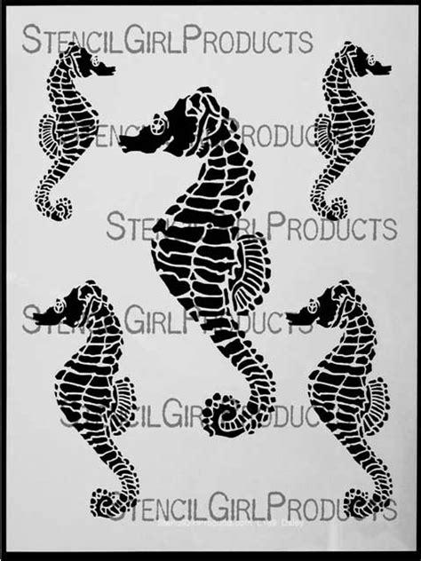 seahorses stencil