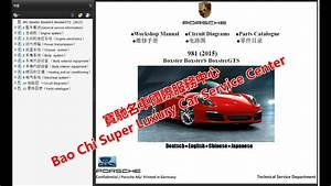 Porsche Boxster Cayman 981 987 Workshop Repair Manual