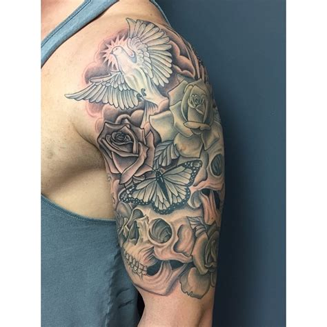 dove tattoos  roses