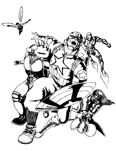 classic avengers comic for older kids coloring page h