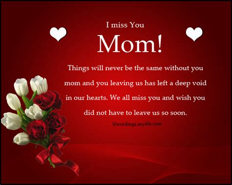 missing  messages  mother  died wordings  messages