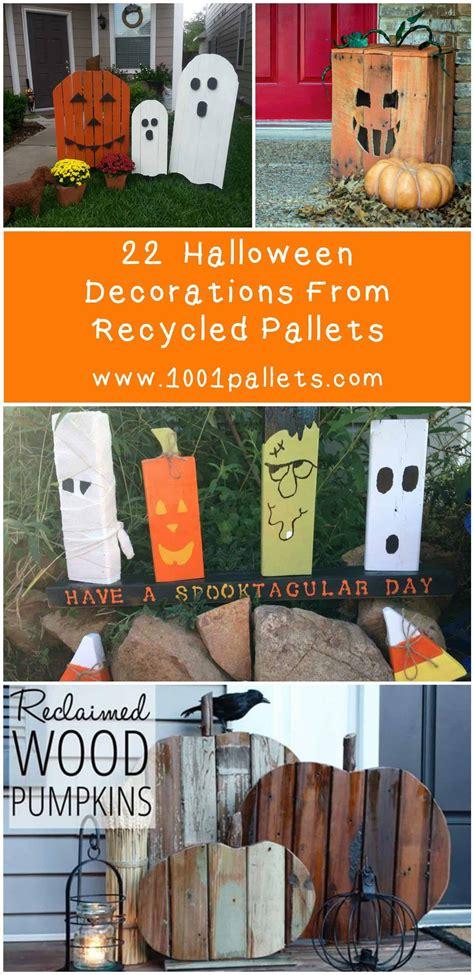 superb halloween decorations  pallet wood wooden