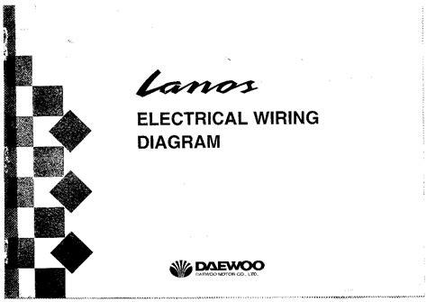 daewoo lanos electrical wiring diagram service manual  schematics eeprom repair info