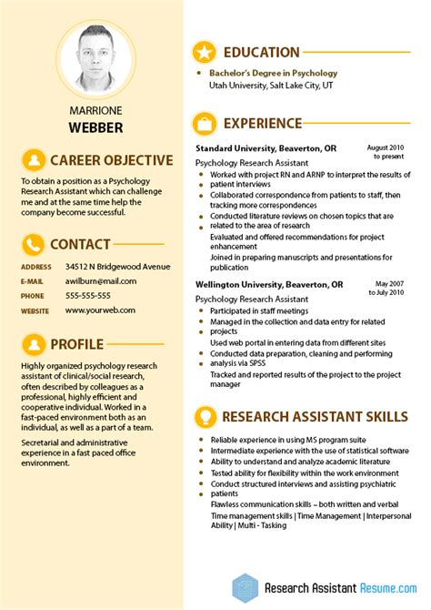 Resume For Psychology Research Assistant by Psychology Research Assistant Resume Resume Writing Service