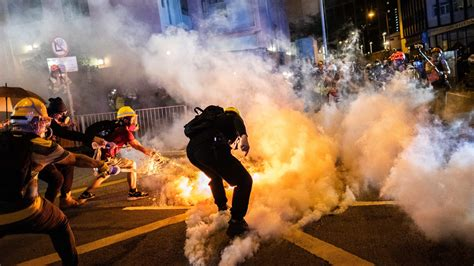 protesters start  days  civil disobedience  hong kong   york times