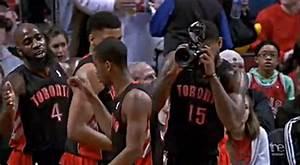 Nba Player Borrows Camera That Falls On Court