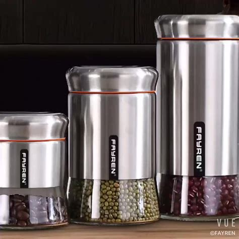 bulk storage containers for kitchen food kitchen stainless steel glass food storage 9338