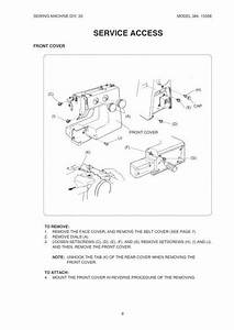 Kenmore 385 15358 Sewing Machine Service Manual