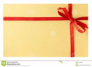 Letter with red ribbon royalty free stock photography for Letter with ribbon