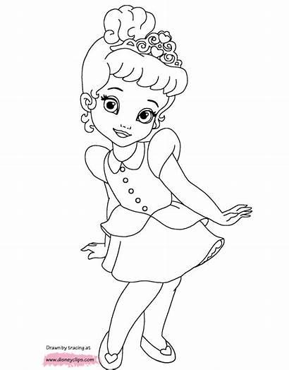 Coloring Pages Princess Cinderella Printable Belle Snow