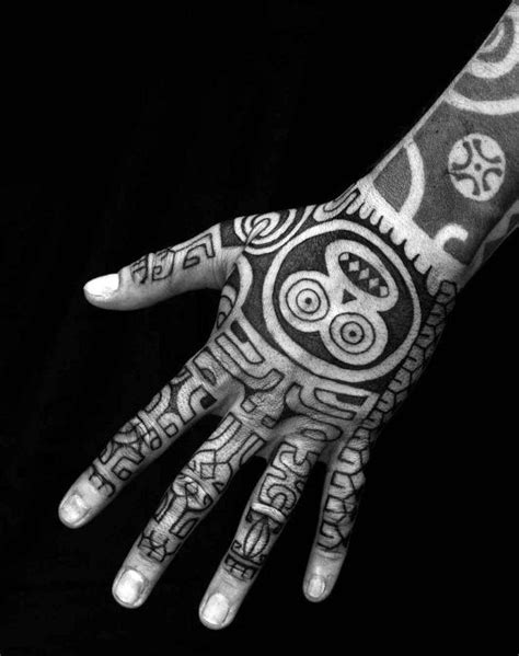 40 Tribal Hand Tattoos For Men - Manly Ink Design Ideas | Hand tattoos, Tribal tattoos, Tribal