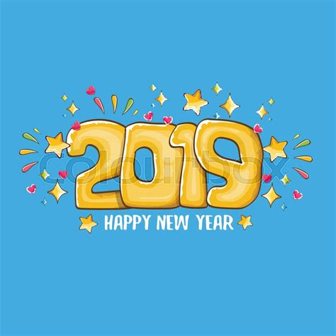 happy  year poster  card stock vector
