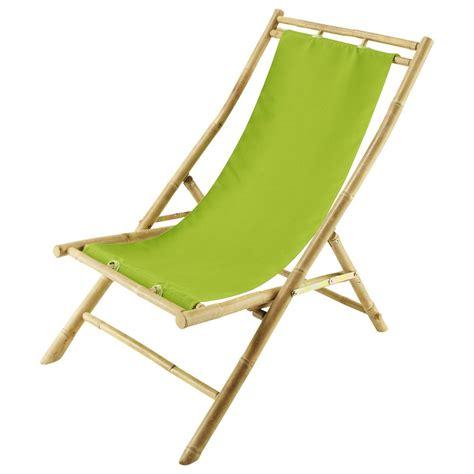 chaise longue chilienne pliante en bambou   cm robinson maisons du monde