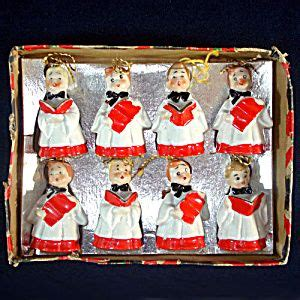 japanese ceramic christmas ornament 1950 box choir boy porcelain bell ornaments 1950s japan click on the image for more